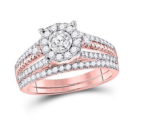 0.90 CTW Diamond Bridal Set