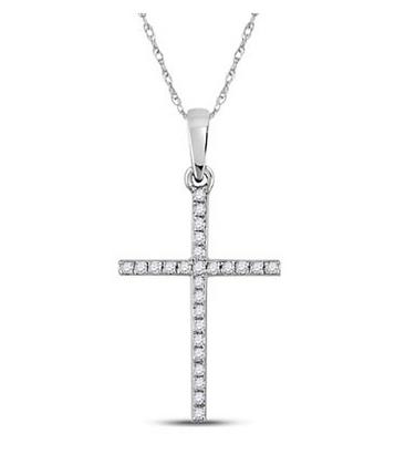 0.15 CTW Diamond Cross Pendant