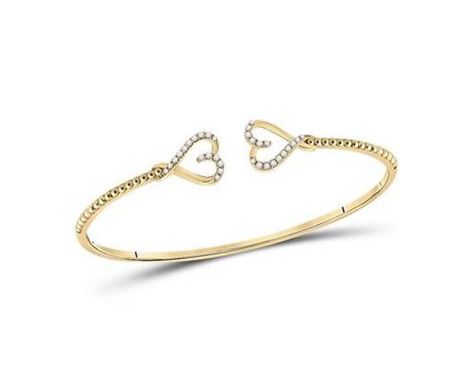 0.20 CTW Diamond Bangle Bracelet