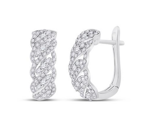 0.65 CTW Diamond Huggie Hoop Earrings