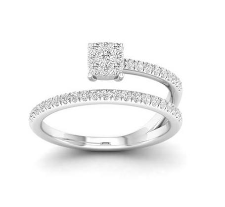 0.35 CTW Diamond Spiral Ring