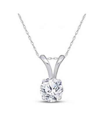 1.00 CTW Diamond Certified Solitiare Pendant