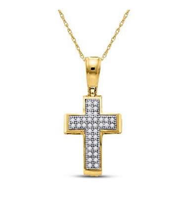 0.10 CTW Diamond Cross Pendant