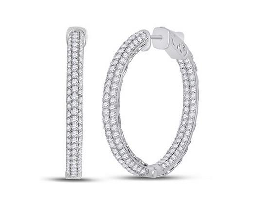 5.00 CTW Diamond Inside Out Hoop Earrings