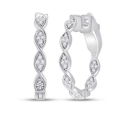 0.65 CTW Diamond Hoop Earrings