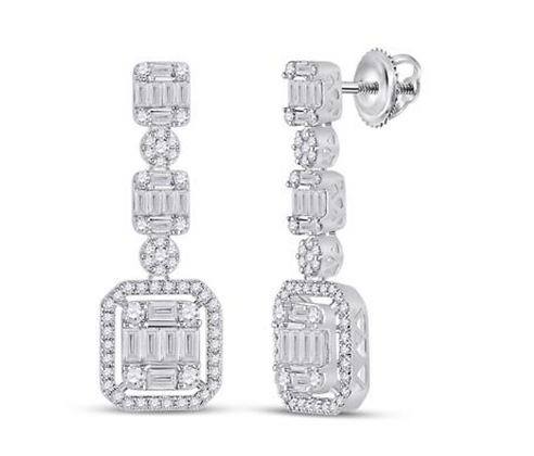 1.50 CTW Diamond Dangling Earrings