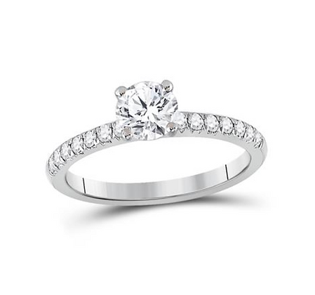 1.00 CTW Certified Diamond Ring