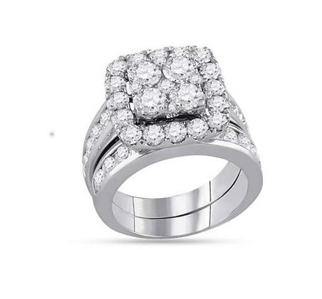 4.25 CTW Diamond Bridal Set