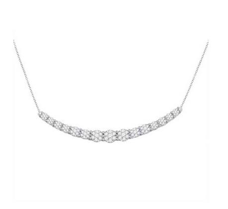 0.95 CTW Diamond Curved Bar Necklace