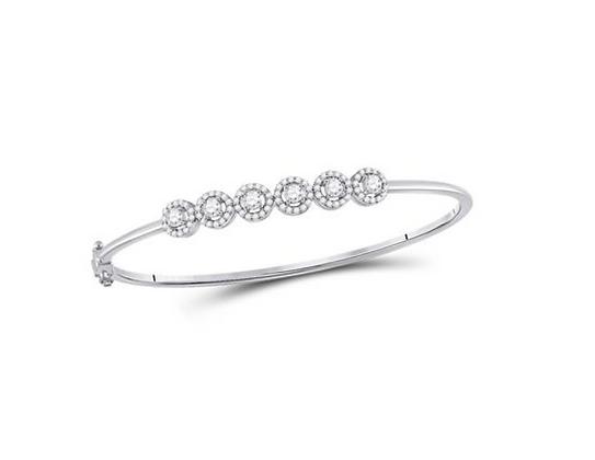 1.00 CTW Diamond Bangle Bracelet