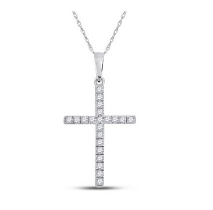 0.20 CTW Diamond Cross Pendant