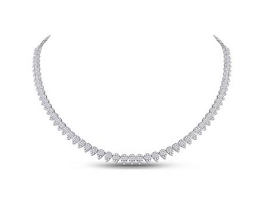 4.40 CTW Diamond Composite Graduated Necklaces