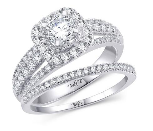 1.29 CTW (0.54 CTR) Diamond Tasha R Bridal Set
