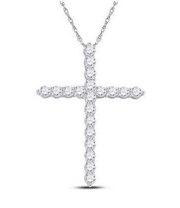 1.00 CTW Diamond Cross Pendant