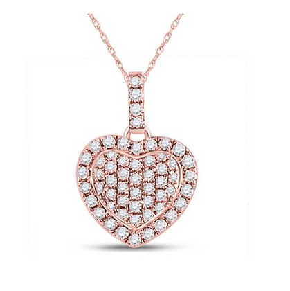 0.25 CTW Diamond Heart Pendant