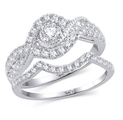 1.00 CTW (0.20 CTR) Diamond Tasha R Bridal Set