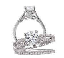Bridal Set 14K Diamond Classic Round Center