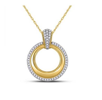 0.15 CTW Diamond Circle Pendant