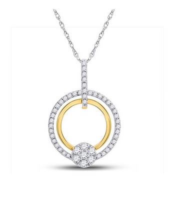 0.45 CTW Diamond Circle Pendant