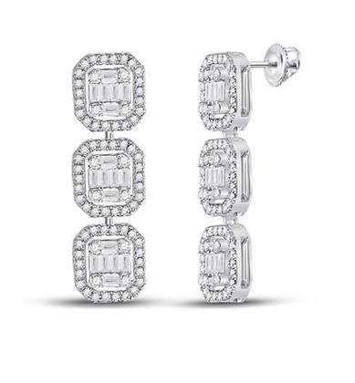 1.65 CTW Diamond Dangling Earrings
