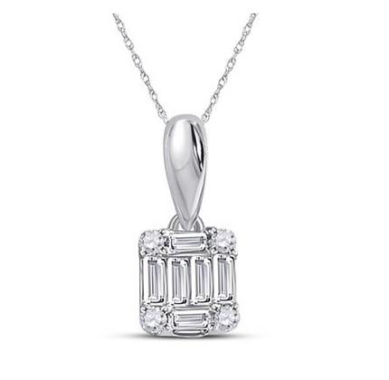 0.20 CTW Diamond Composite Pendan0