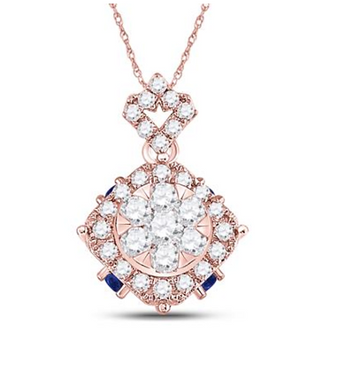 0.65 CTW Diamond Composite Pendant