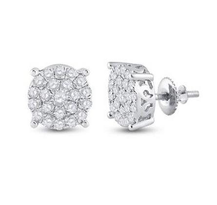 1.50 CTW Diamond Composite Stud Earrings