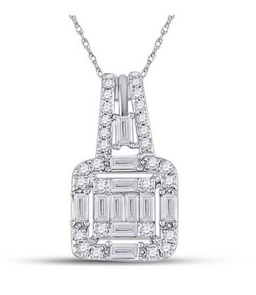 0.35 CTW Diamond Composite Pendant