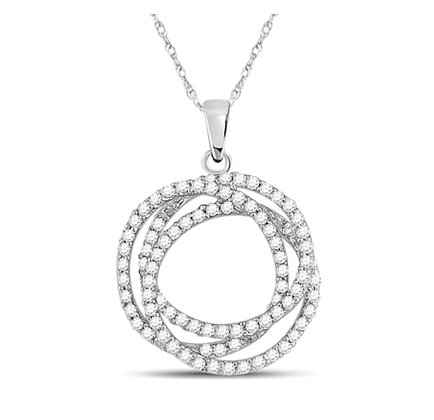 0.65 CTW Diamond Circle Pendant