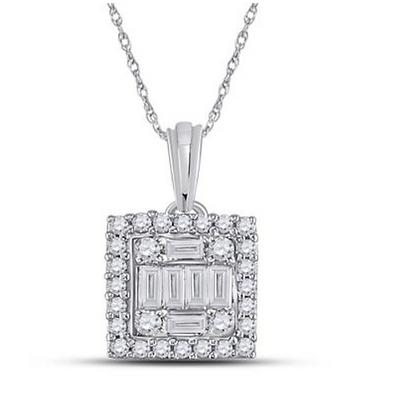 0.20 CTW Diamond Composite Pendant