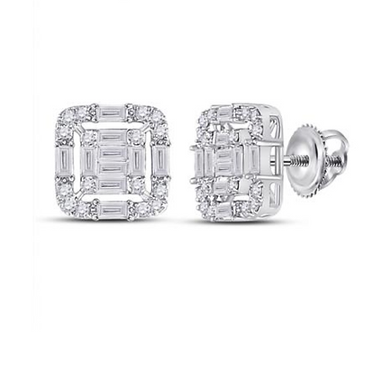 0.65 CTW Diamond Composite Stud Earrings