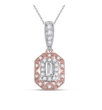 0.40 CTW Diamond Composite Pendant