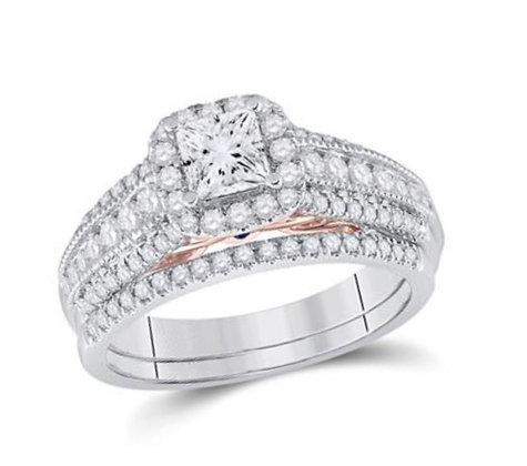 1.25 CTW Certified Diamond Bridal Set