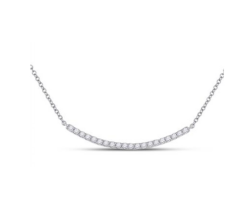 0.50 CTW Diamond Curved Bar Necklace