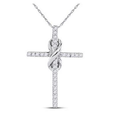 0.25 CTW Diamond Cross Pendant