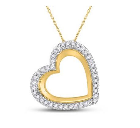0.15 CTW Diamond Heart Pendant