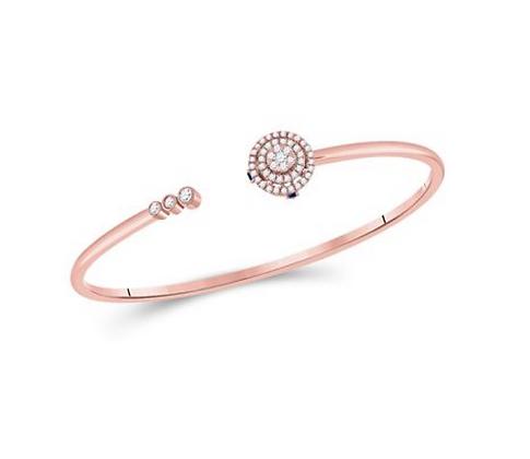 0.50 CTW Diamond & Sapphire Bangle Bracelet