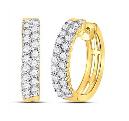 1.50 CTW Diamond Huggie Hoop Earrings