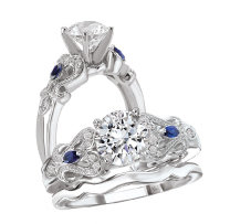 Bridal Set 14K Diamond Peg Setting