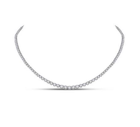 2.00 CTW Diamond Solitiare Graduated Necklaces