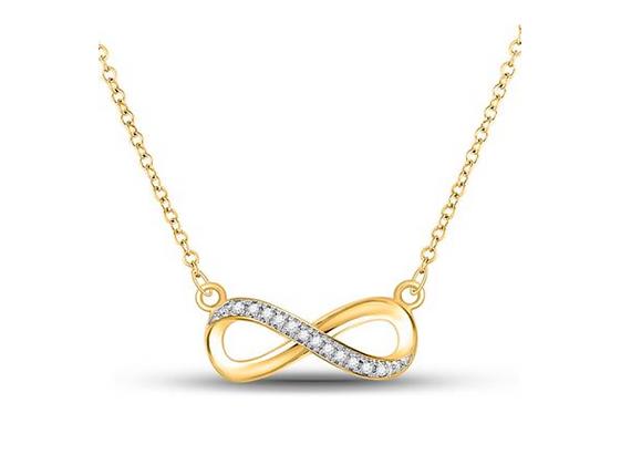 0.05  CTW Diamond Infinity Pendant