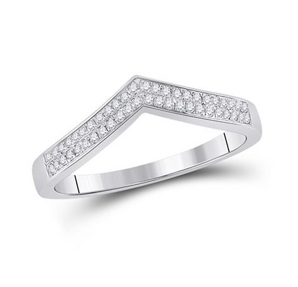 0.15 CTW Diamond Curved Band