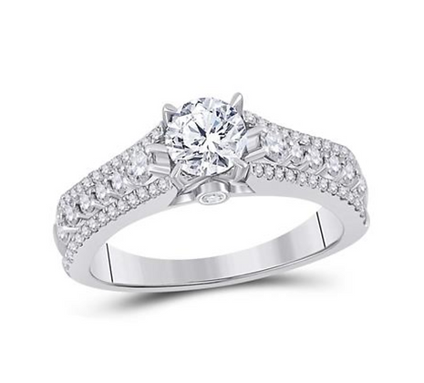 1.35 CTW Certified Diamond Ring