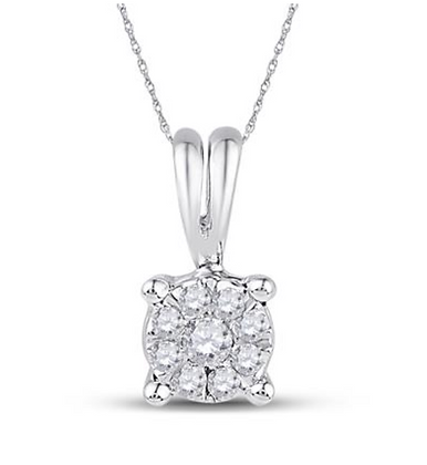 0.10 CTW Diamond Composite Pendant