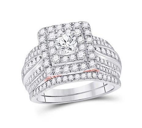 1.50 CTW Certified Diamond Bridal Set