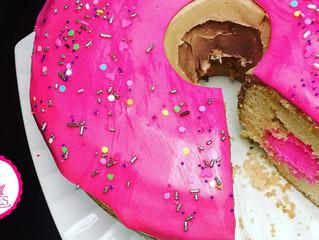 Giant Cream Filled Donut Cake