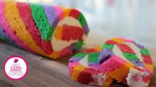 Rainbow Roll Vanilla Cake