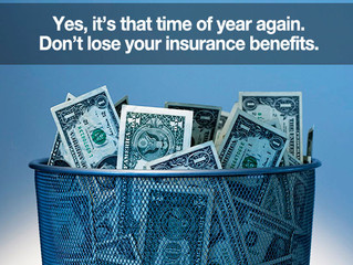 Dental insurance benefits expire December, 31st : Better Use, Than Lose!