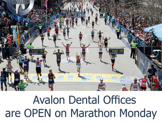 Avalon Dental Offices are open on Marathon Monday, April 15th