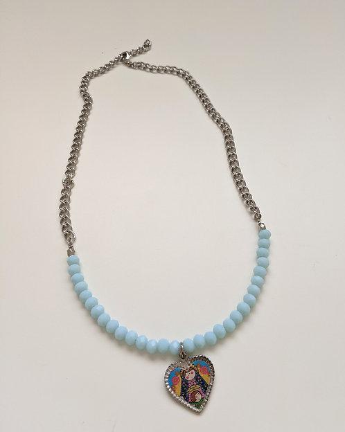 Heart Virgencita Necklace